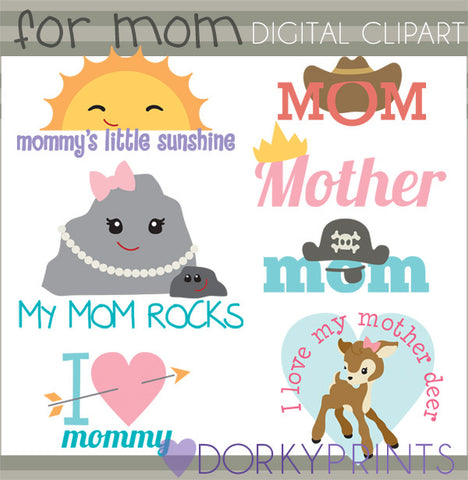 Mother's Day Holiday Clipart