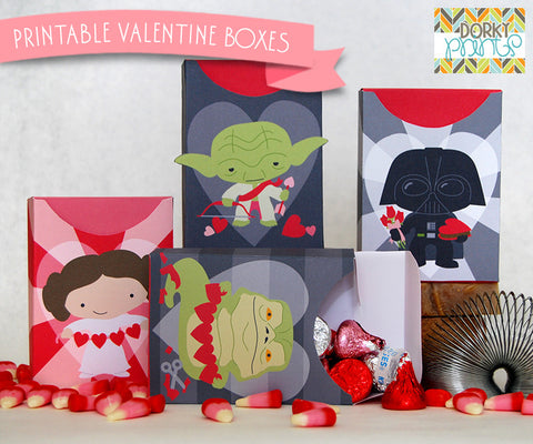 Star Heroes Valentine Treat Boxes Holiday Printables
