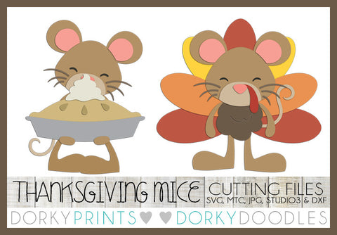 Mouse Thanksgiving Cuttable Files