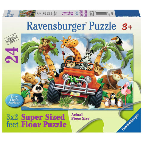 4-Wheeling Floor Puzzle 24 pcs