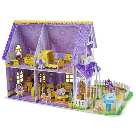 3-D Puzzle Pretty Purple Dollhouse