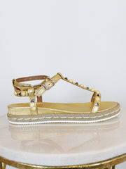 Berties Alpe Gladiator Sandals In Gold