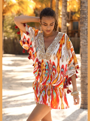Berties Miss June Ikat Cover Up Mini Dress