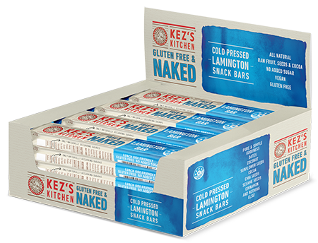12 x Free & Naked Retail Box - Lamington Bars 25 g