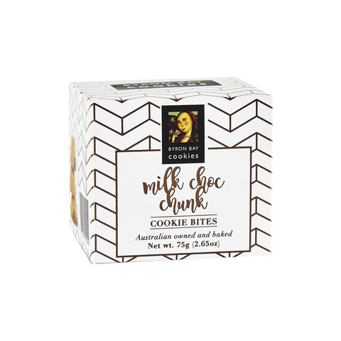 12 x Byron Bay Cookie Luxe Cubes - Milk Choc Chunk 75g Biscuits Byron Bay Cookie