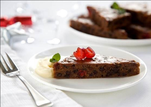 32 x Brownie Point Gluten Free XMAS Pudding Slabs (Square or Triangle Pre-Cut) Brownies Brownie Point