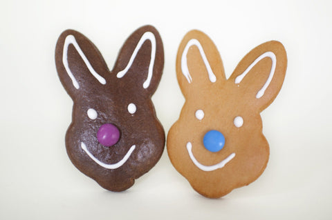 24 x Gingerbread Easter Bunny 50gm Gingerbread Christens Gingerbread