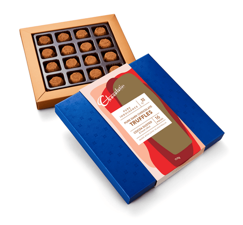 "6 x Chocolatier Pure Indulgence ""Cocoa Dusted Truffles"" Dark Chocolate 150g Chocolates Chocolatier Australia"
