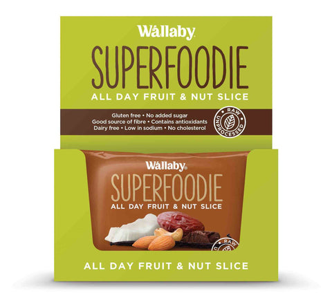 8 x Wallaby All Day Fruit and Nut Slices - Cappuccino Cacao (Gluten Free) Fruit & Nut Slices Wallaby
