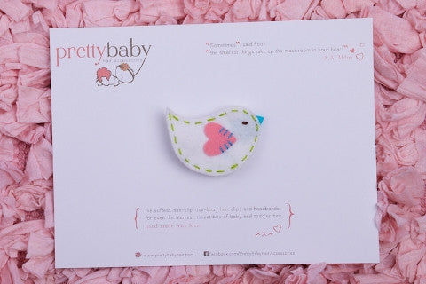 Little White Birdie Toddler Hair Clip
