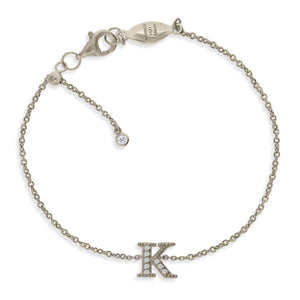 "BT-26/S/K - Initial ""K"" Bracelet Adjustable Size"
