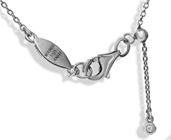 "NT-26/S/N - Initial ""N"" Necklace with Sliding Length Adjuster"