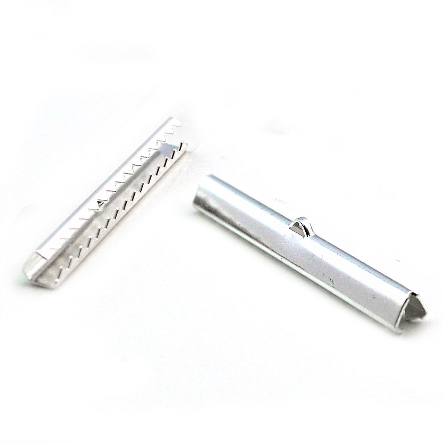 Long Ribbon Crimp- Silver - Beadshop.com