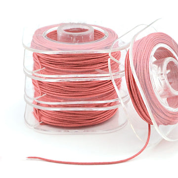 Coral- 0.5mm , 0.5mm chinese knotting cord - Tangles n' Knots, Beadshop.com