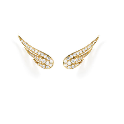 Icarus, Diamond Earrings | more gold options