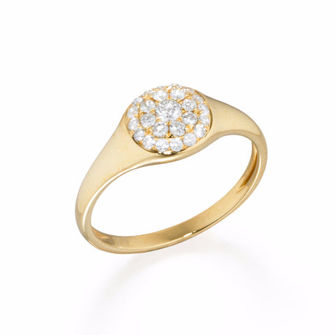 Signet Diamond Pavé Ring | more gold options