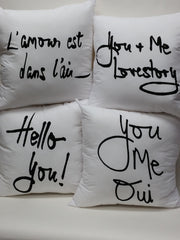 Hello You! Bed Love Pillow Cover
