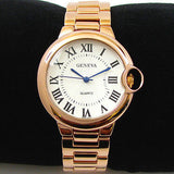 Rose Gold Geneva Classic Roman Dial Women's Bracelet Watch