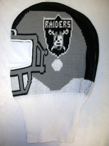 Oakland Raiders NFL Game Face Knit Helmet Hat Ski Mask