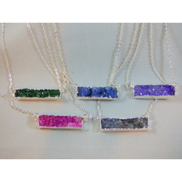 Silver Druzy Necklaces - Emmis Jewelry - 1