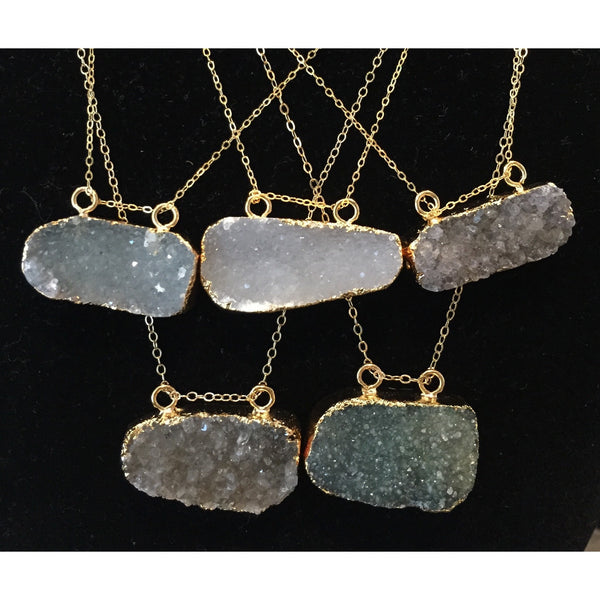 Double Hang Druzy - Emmis Jewelry - 3