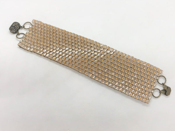Glass Wall handsewn bracelet - gold