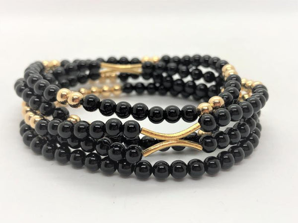 Gold Fill stretch bracelets set of 4
