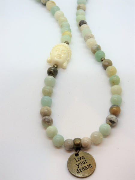 Amazonite and Ocean Jasper Wrap