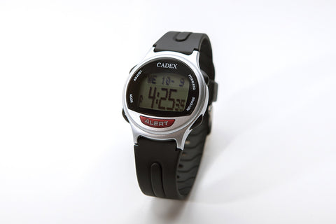 CADEX Medical ID Bracelet and Alarm Watch Silver