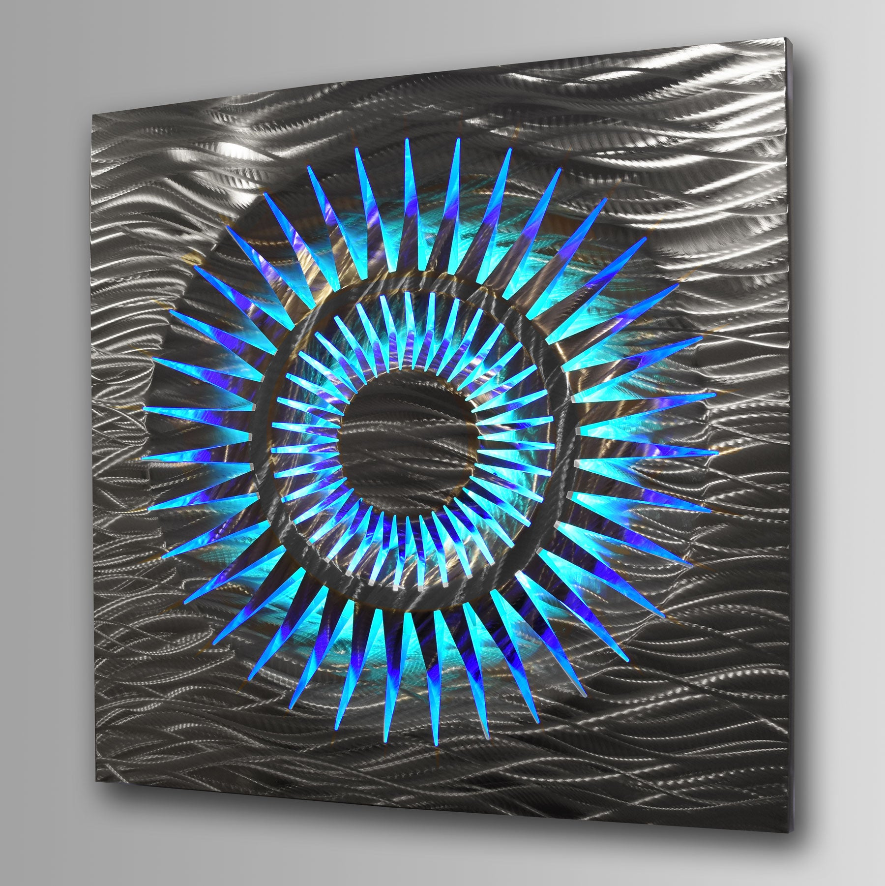 """Fracture""Lighted Metal Wall Art Sculpture with LED Color ..."