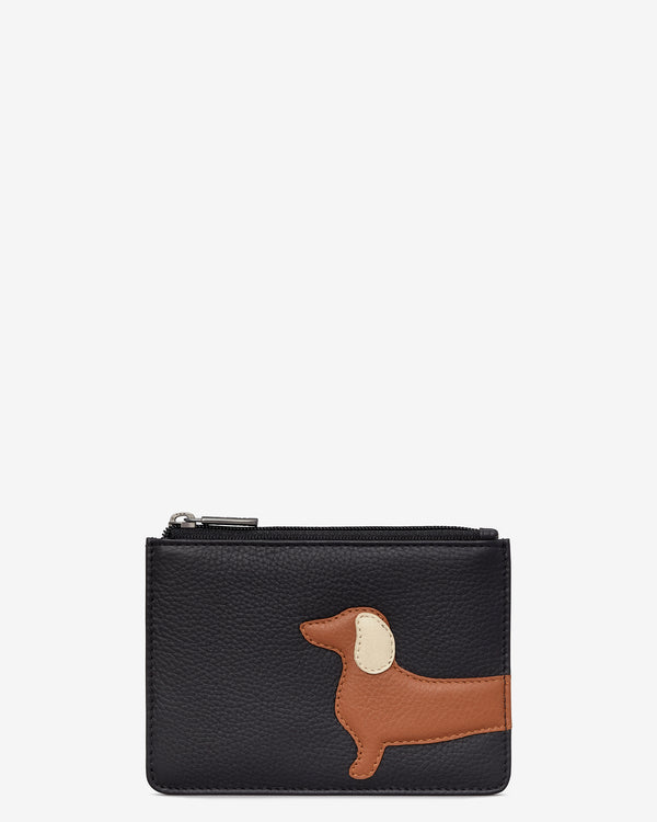 Digby the Dachshund Red Leather Zip Top Purse