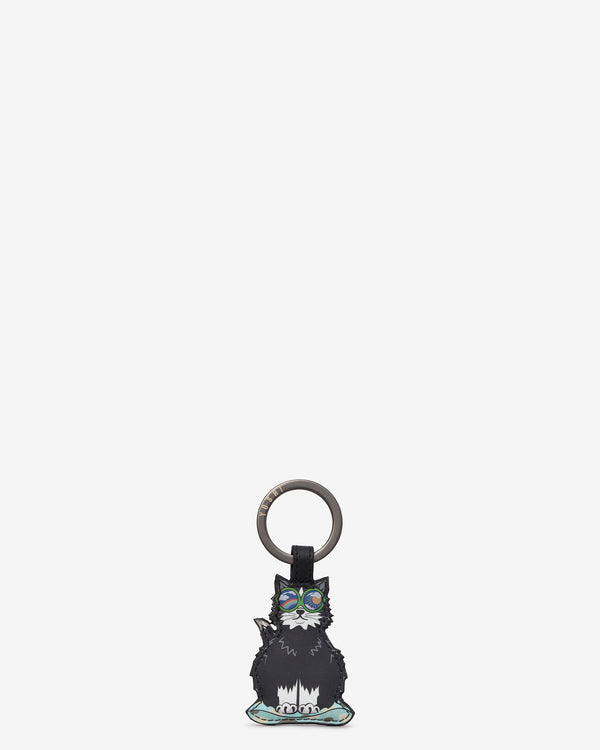 Cool For Cats Leather Keyring - Cat A