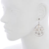 Oxidized Filigree Disc / Swarovski® Pearl Earring