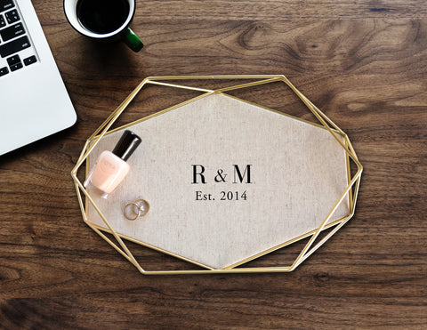 Personalized Linen Tray