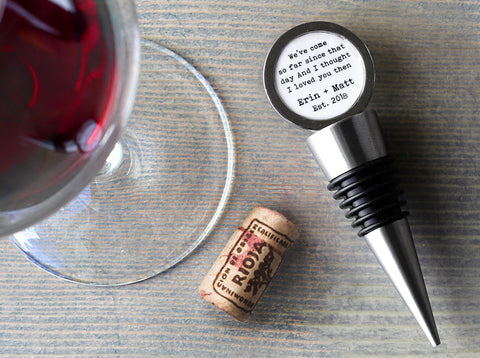 Personalized Bottle Stopper
