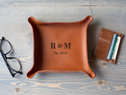 Leather Catchall Tray