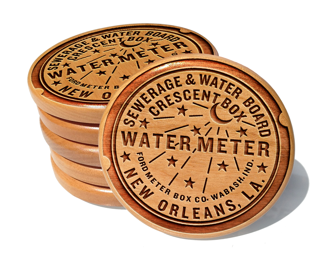 New Orleans Water Meter Coaster Set