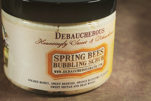 Spring Bees Bubbling Scrub