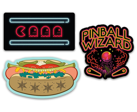 Chicago Arcade Stickers - Vinyl Decal Set