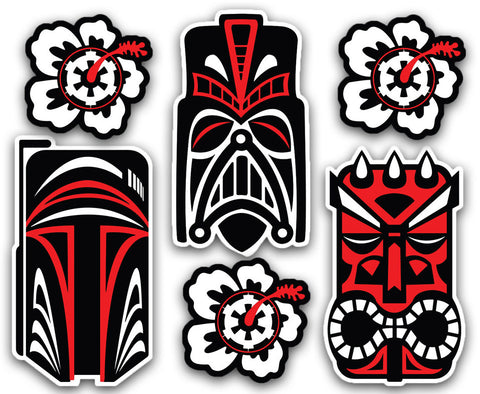 Tiki Star Wars - Vinyl Decal Set