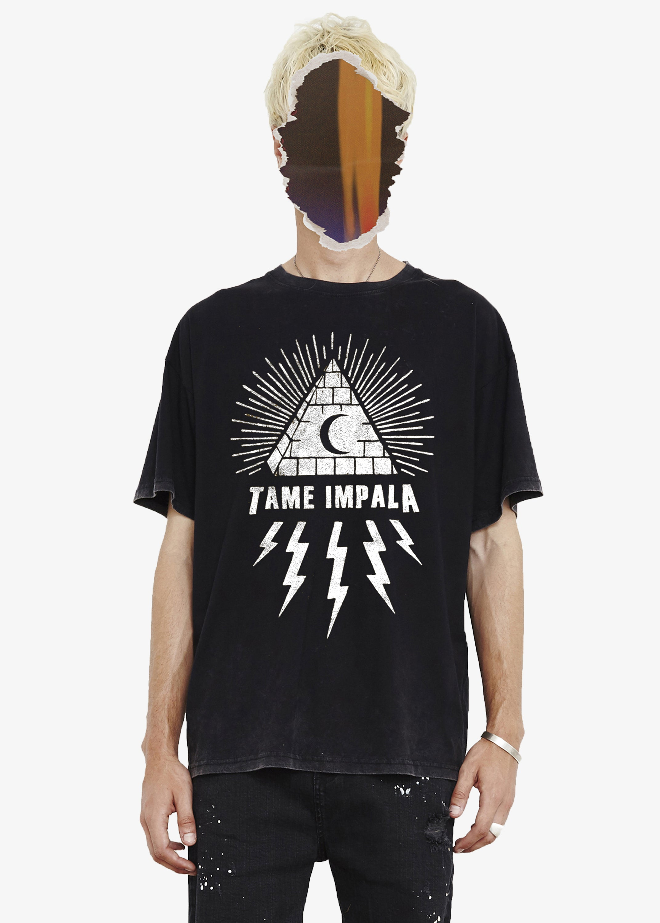 THE PEOPLE VS X TAME IMPALA TEE - WHITE GRAPHIC