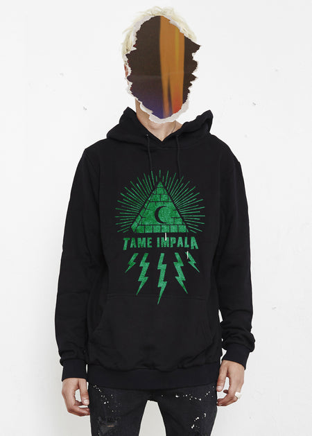 THE PEOPLE VS X TAME IMPALA PYRAMID HOODIE - FOREST GREEN