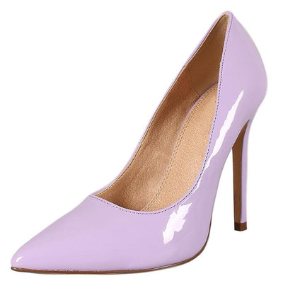 Skyler132 Lilac Patent Pointed Toe Stiletto Pump Heel - Wholesale Fashion Shoes