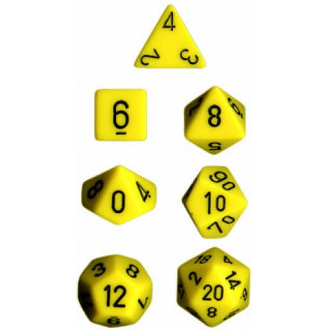 Chessex - 7 Piece - Opaque - Yellow/Black