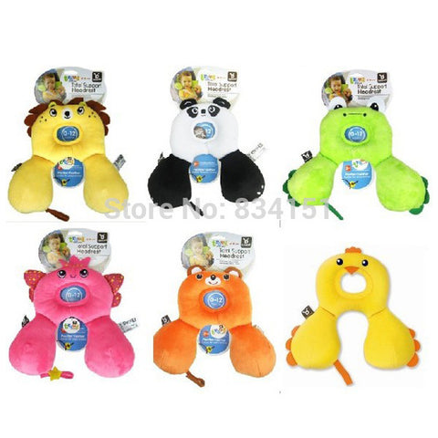 0-12M Cartoon Baby Care Pillow Infant Safety Seat Headrest Baby Travel Pillow