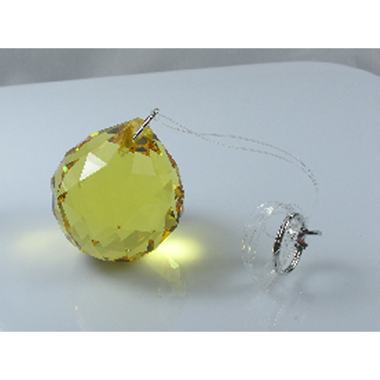 20mm Crystal Sphere - Yellow