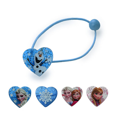1 pair Elsa Anna Head Rope Hair Band Headwear Heart-shaped Female Girls Babys