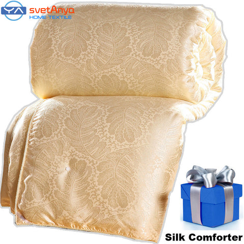 100% Natural/Mulberry Silk Comforter for Winter/summer Twin Queen King