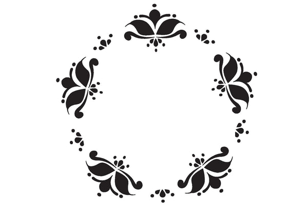 Beautiful decorative painted furniture stencils by Beautifully Boho from Emily Rose Vintage - Floral Circlet
