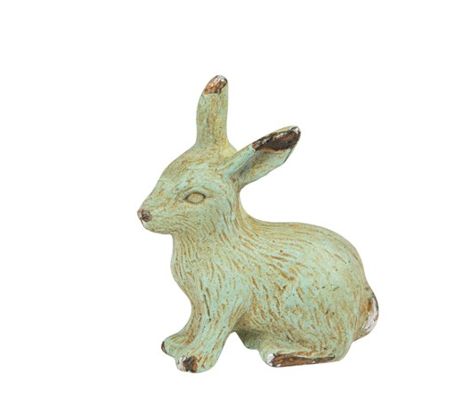 Rabbit Boudoir Drawer Knob - New rabbit hare animal furniture knob handle in Cream, Green and duck egg